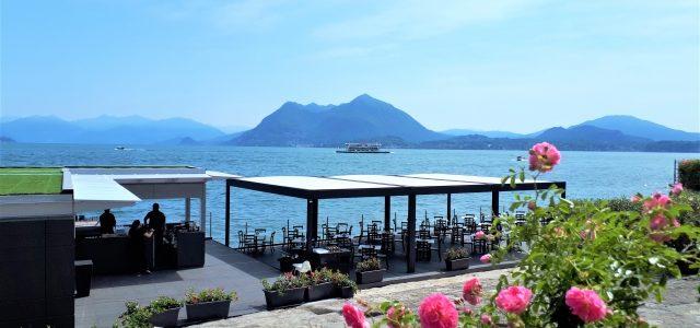 Marconi Beach Stresa: Strandbar mit Blick auf den Lago Maggiore