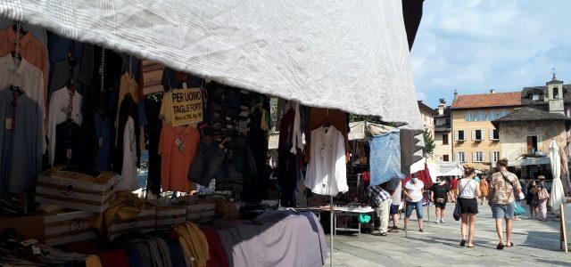 Mittwochs am Lago d'Orta: Der Markt in Orta San Giulio